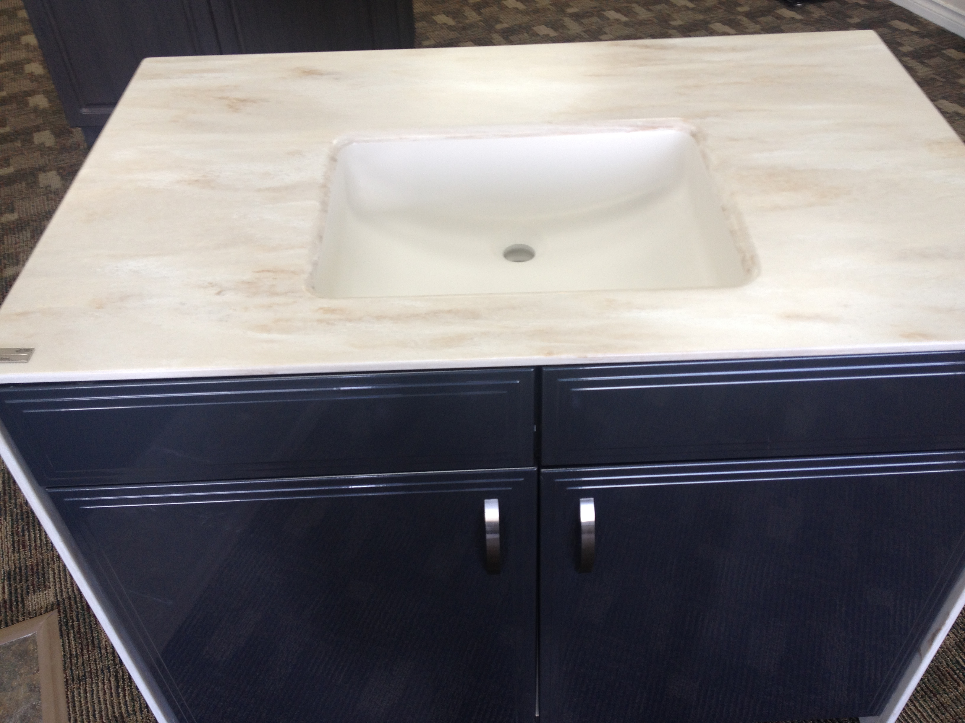 Corian under mounted sink & countertop