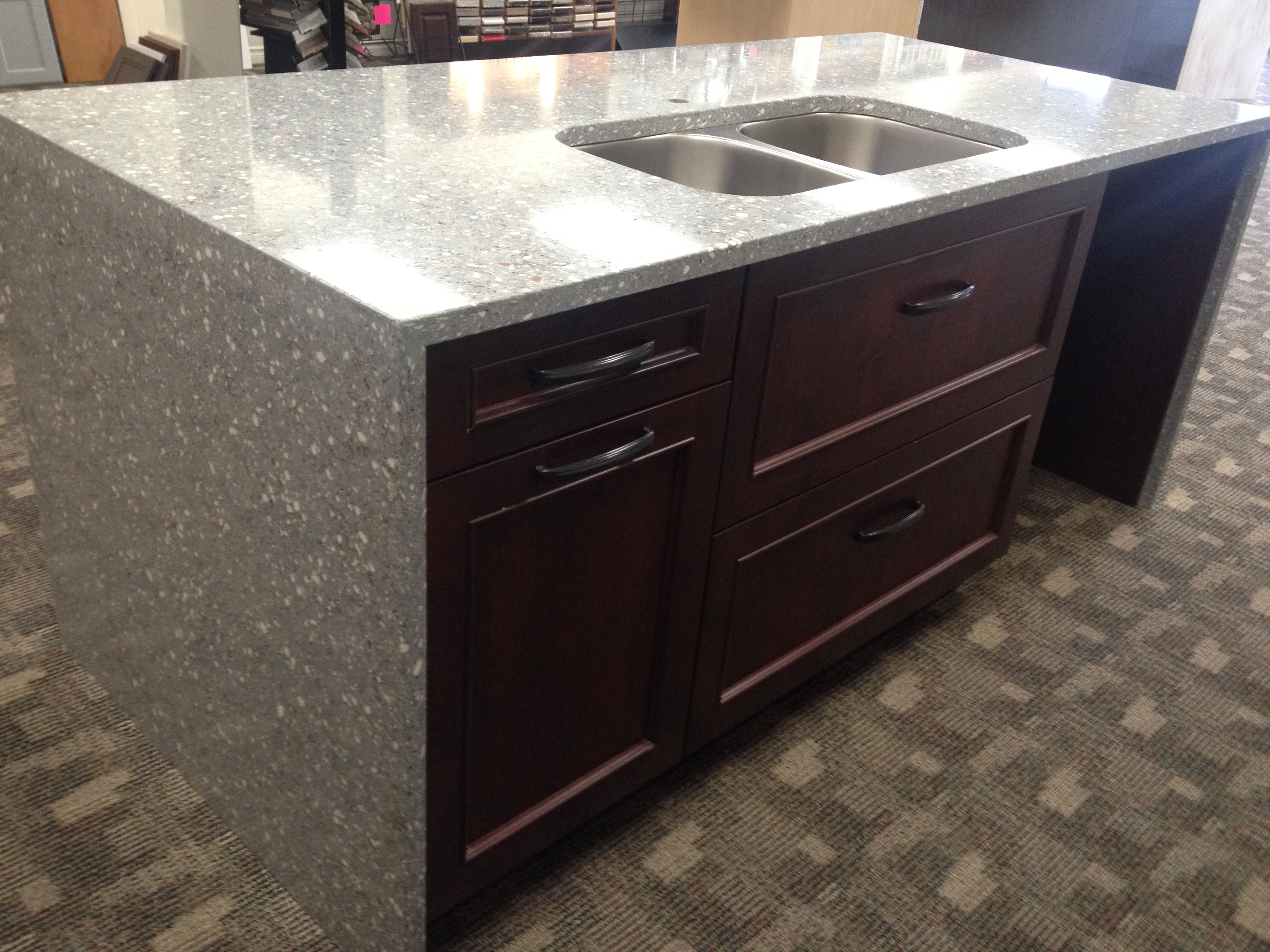 HanStone Quartz Countertop With Undermount Sink and Merit Cabinets